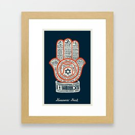 Hammerin' Hank Framed Art Print