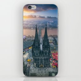 Sunset at the Rhine iPhone Skin