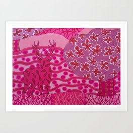 Pretty In Pink In The Park Art Print