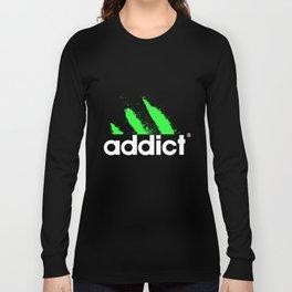 Addict Funny Dope Drug Cocaine Edm Dj Club Hip Hop Rap Street Dope T-Shirts Long Sleeve T-shirt
