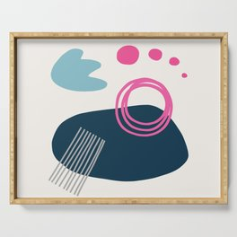 Summer Swimming Abstract Serving Tray
