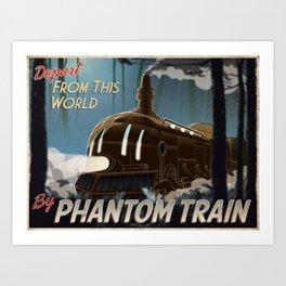 Final Fantasy VI - Come Ride the Phantom Train Art Print