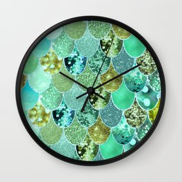 Mermaid Skin Shimmer Wall Clock