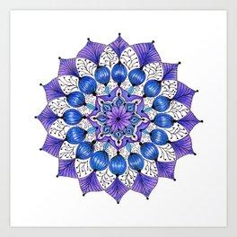 Rhapsodala in Blue Art Print