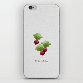 Let The Beet Drop iPhone Skin