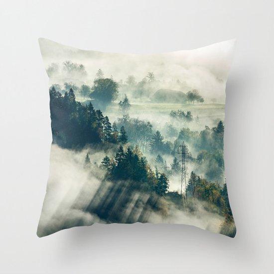 Return to the Mist Throw Pillow