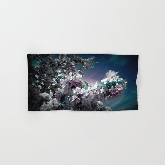 Flowers Purple & Teal Hand & Bath Towel