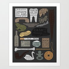 22 Facts - Useful Facts Art Print