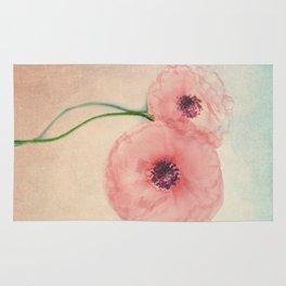 Vintage poppies 12 Rug