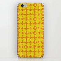 yellow pattern iPhone & iPod Skins featuring yellow pattern by JesseRayus