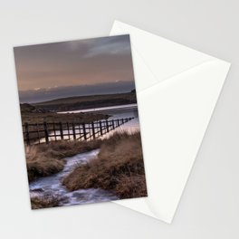 Still waters at the Derwent Reservoir at sunset Stationery Cards
