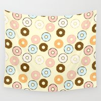 donuts Wall Tapestries featuring Donuts by Sara Showalter