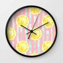 Lemon Pattern 10 Wall Clock
