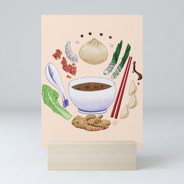 Dumpling Diagram Mini Art Print
