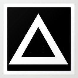(TRIANGLE) (BLACK & WHITE) Art Print