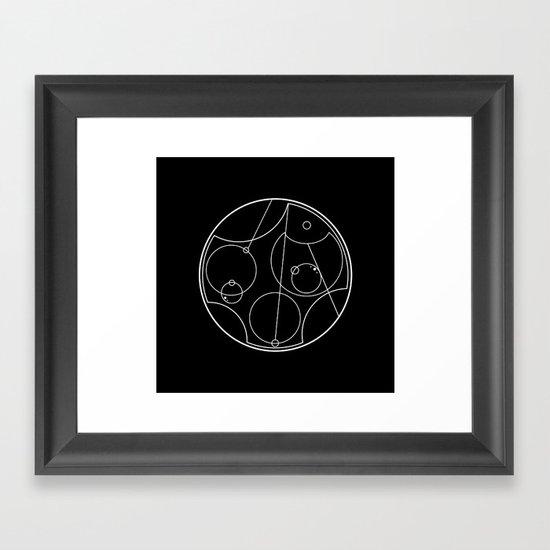 I love you - Galifreyan - reverse colours Framed Art Print