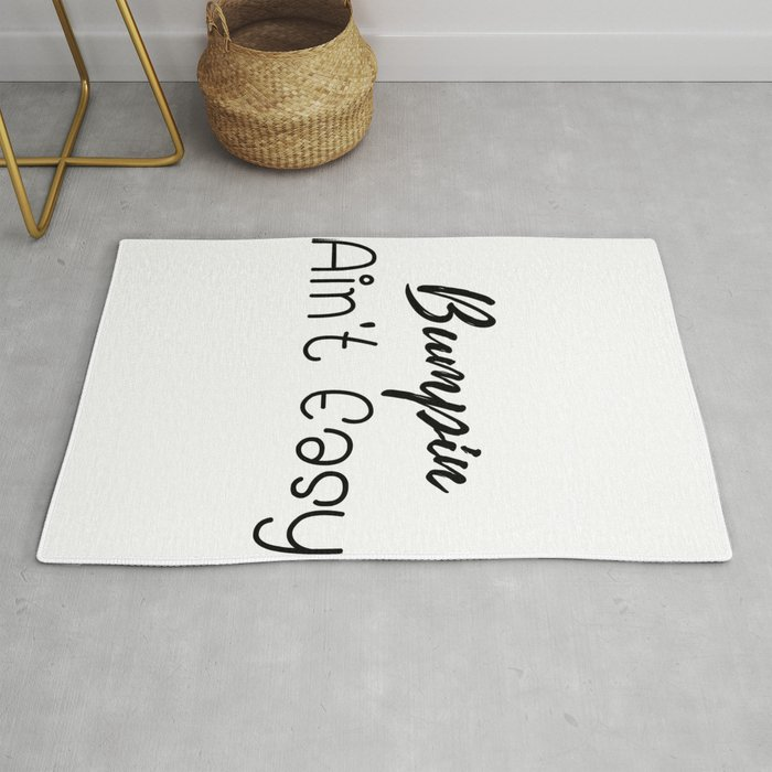 Bump Pregnancy Funny New Mom Gifts Rug by magnum
