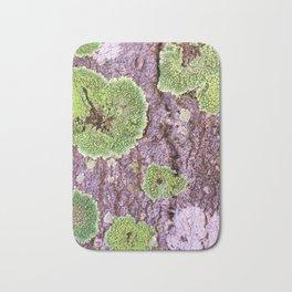 Tree Bark Pattern with Lichen #7 Bath Mat