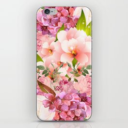 Natural Pink Flowers iPhone Skin