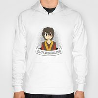 zuko Hoodies featuring That's Rough Buddy by CorgiBlue