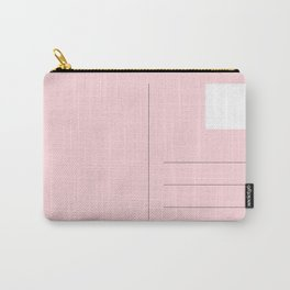 Pink Postcard Minimal Carry-All Pouch