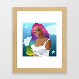 Rainbow Hair Framed Art Print