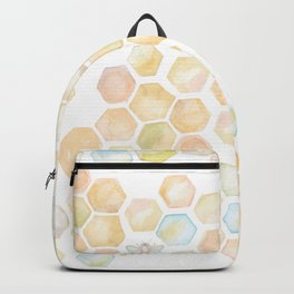 Bee and honeycomb watercolor Backpack