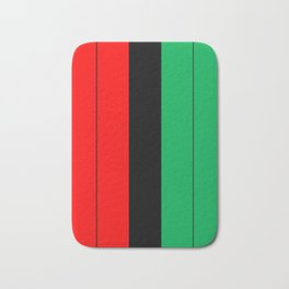Kwanzaa Red Black Green Stripes Bath Mat