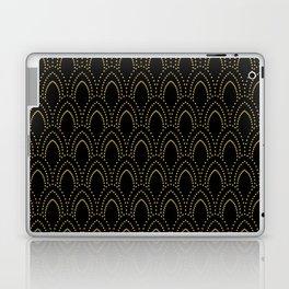 Black And Gold Foil Art-Deco Pattern Laptop & iPad Skin