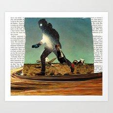Primitive Mars Runner Art Print