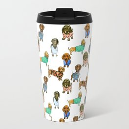 Sausage Dogs - Dachshunds with Jumpers Travel Mug