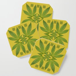 Marijuana Leaf Pattern Coaster