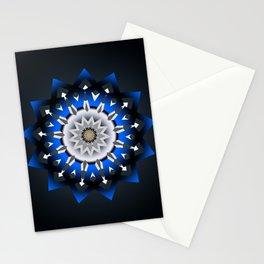 Ornament 3D Blue Modern Stationery Cards
