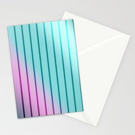 Rainbow . Striped rainbow pattern . Stationery Cards