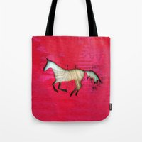 horse Tote Bags featuring Horse by Brontosaurus
