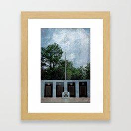 EOD Memorial Framed Art Print