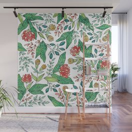Wildflower Pattern - Full Color Wall Mural