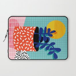 No Way - wacka potted house plant indoor cute hipster neon 1980s style retro throwback minimal pop Laptop Sleeve