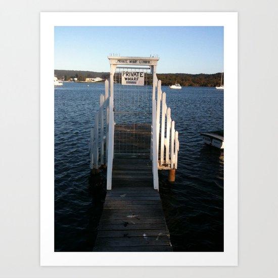 Wharf Walk Art Print