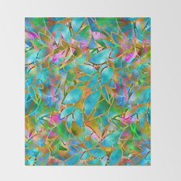 Floral Abstract Stained Glass G265 Throw Blanket