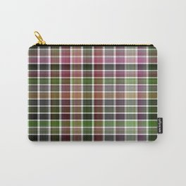 Pink Roses in Anzures 5  Plaid 2 Carry-All Pouch