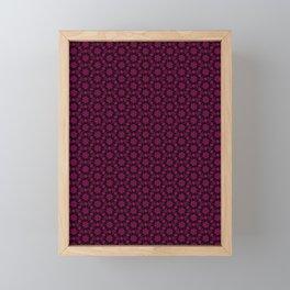 Hex Flower Flare Framed Mini Art Print