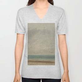 Gustave Courbet Calm Sea 1866 Painting Unisex V-Neck