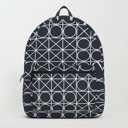 Geometric Tile Pattern Backpack