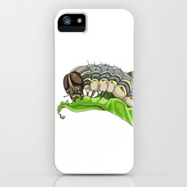 The Smol Hungry Caterpillar (Armyworm) iPhone Case