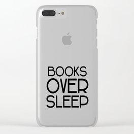 Book Over Sleep Clear iPhone Case