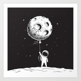 Fly Moon Art Print