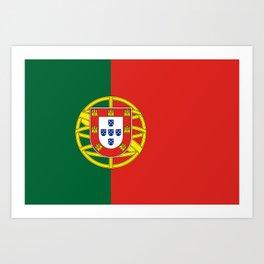 Flag of Portugal Art Print
