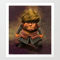 tyrion Art Prints featuring Tyrion Lannister by Dennis Jones