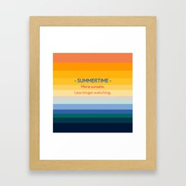 Summer Entertainment Framed Art Print